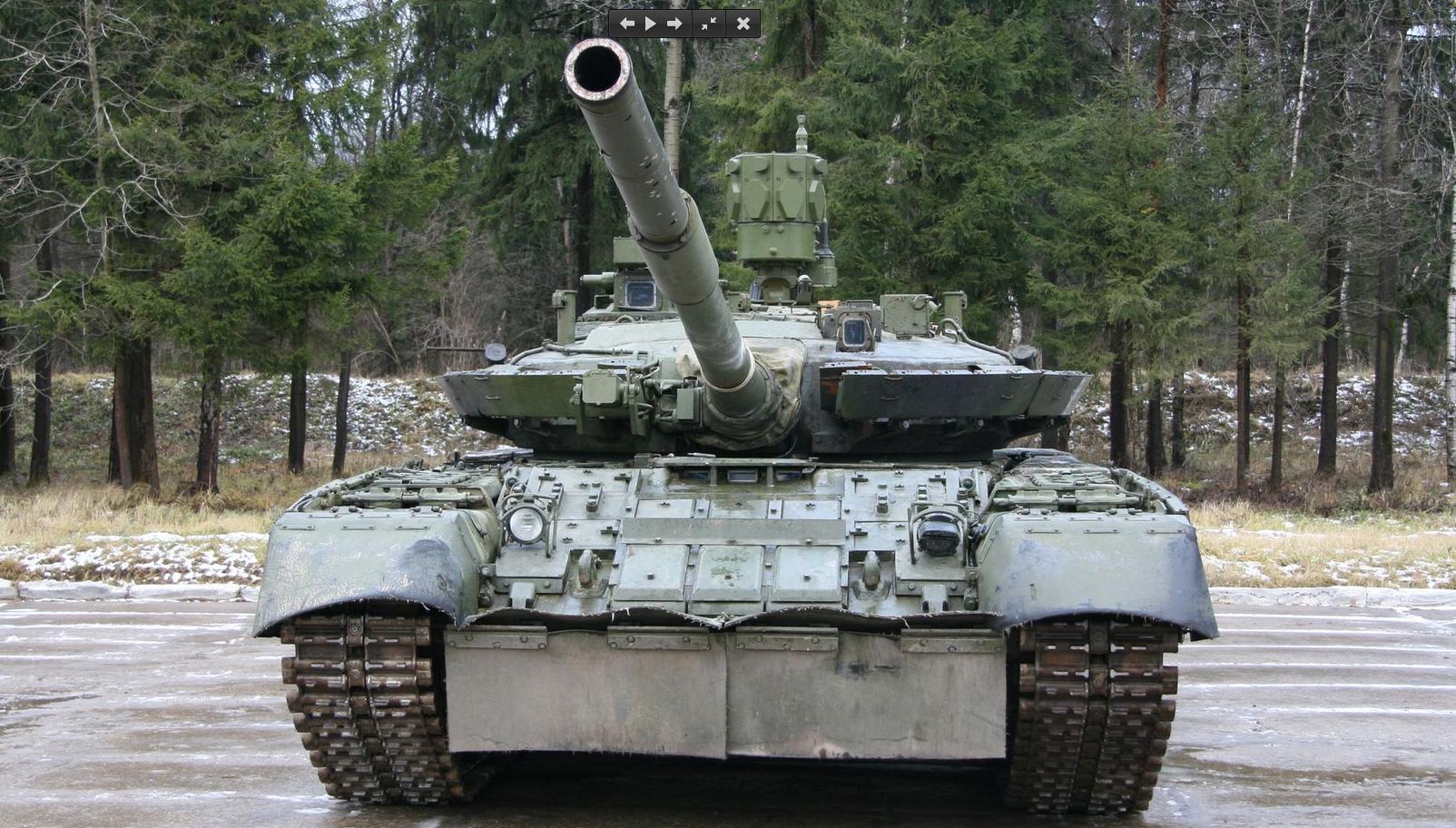 танк Т-80 с ареной
